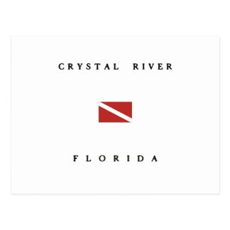Crystal River Florida Scuba Dive Flag Postcard