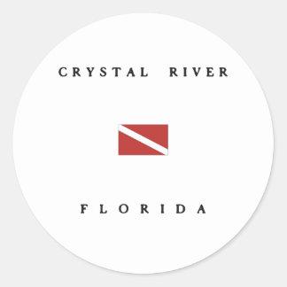 Crystal River Florida Scuba Dive Flag Stickers