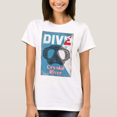 Crystal River Vintage Scuba Diving Mask T-Shirt