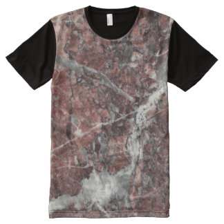 Crystal Rose Stone Pattern Background - Dramatic All-Over-Print T-Shirt