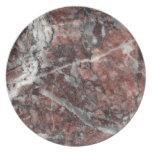 Crystal Rose Stone Pattern Background - Dramatic Melamine Plate