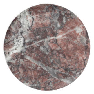 Crystal Rose Stone Pattern Background - Dramatic Melamine Plate