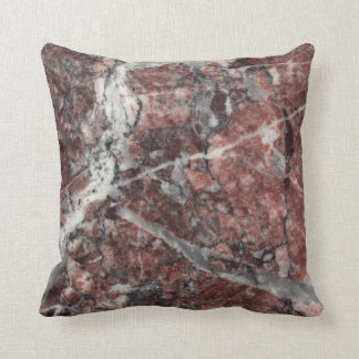 Crystal Rose Stone Pattern Background - Dramatic Throw Pillow