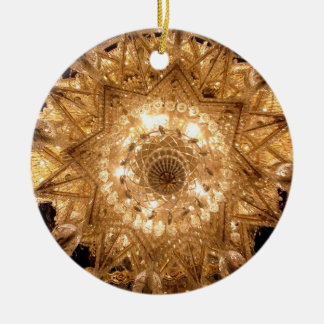 'Crystal' Round Ornament (Gold)