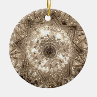 'Crystal' Round Ornament (Silver)