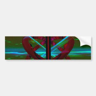 Crystal Sculpture, Abstract Art Car Bumper Sticker