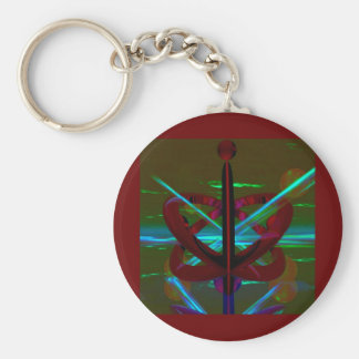 Crystal Sculpture, Abstract Art Keychain