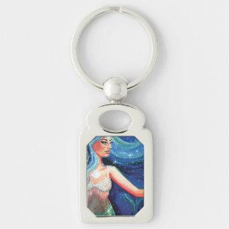 """""""Crystal Sea"""" Mermaid art keychain"""