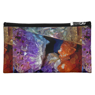 Crystal Secrets Mineral Abstract Makeup Bags