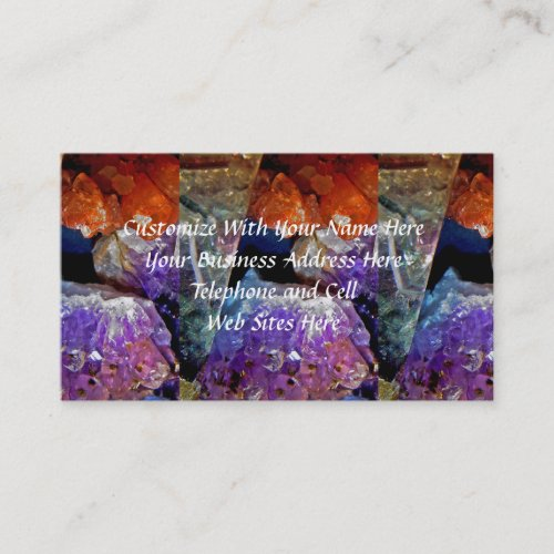 Crystal Secrets Mineral Abstract Business Card