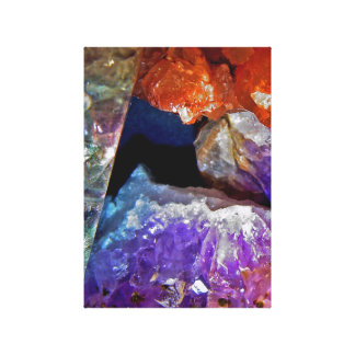 Crystal Secrets Mineral Abstract Canvas Print