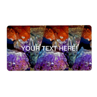 Crystal Secrets Mineral Abstract Labels