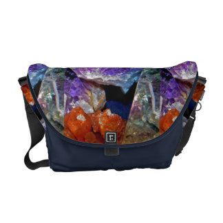 Crystal Secrets Mineral Abstract Courier Bag