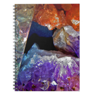 Crystal Secrets Mineral Abstract Notebooks