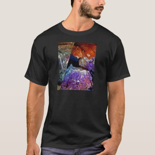 Crystal Secrets Mineral Abstract T-Shirt
