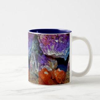 Crystal Secrets Mineral Abstract Two-Tone Coffee Mug