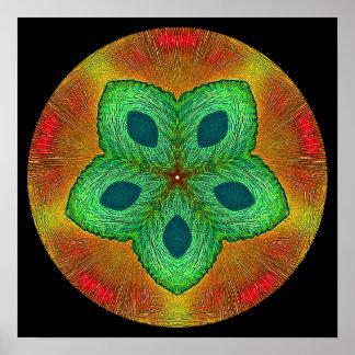 Crystal Seed Mandala Poster