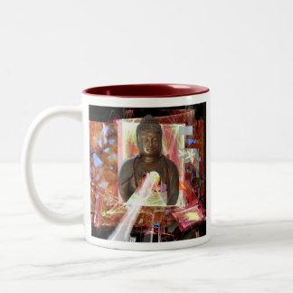 Crystal Shards from Heaven  salerno Two-Tone Coffee Mug