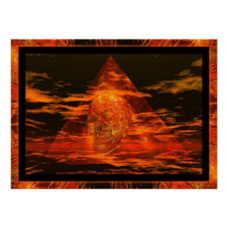 CRYSTAL SKULL In Pyramid Poster