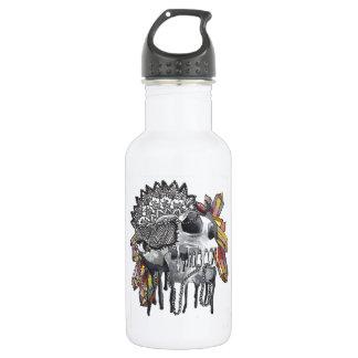 Crystal Skull Mandala Water Bottle