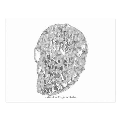Crystal skull_zg03 tarjetas postales