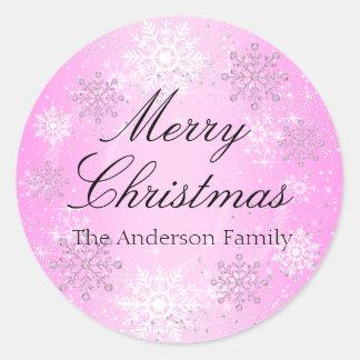 Crystal Snow Winter Wonderland Christmas Sticker