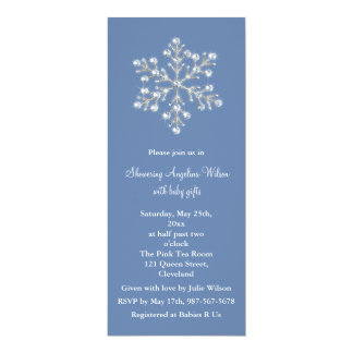 Crystal Snowflake Baby Shower Invitation (blue)
