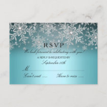 Crystal Snowflake Blue Winter RSVP