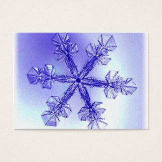 Crystal Snowflake Christmas Recipe Card