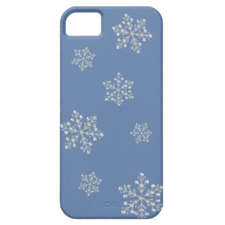 Crystal Snowflake iPhone 5 Case (blue)