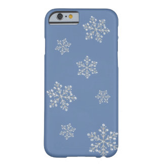 Crystal Snowflake iPhone 5 Case (blue) iPhone 6 Case