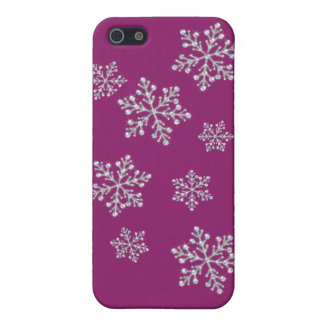 Crystal Snowflake iPhone 5C Case in magenta