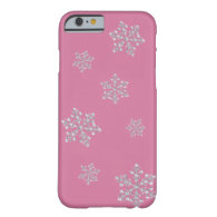 Crystal Snowflake iPhone 6 case (pink)