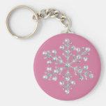 Crystal Snowflake Keychain