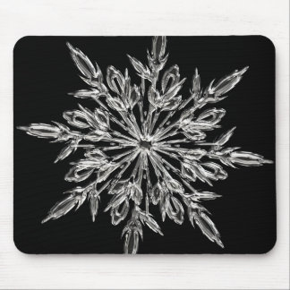 Crystal snowflake mouse pad