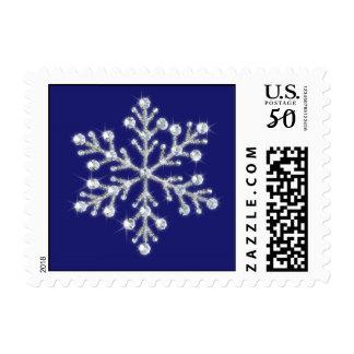 Crystal Snowflake Stamp (blue)