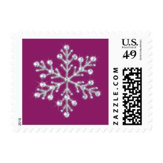 Crystal Snowflake Stamp (magenta)