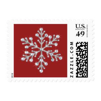 Crystal Snowflake Stamp (red)