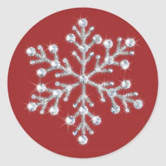 Crystal Snowflake Sticker (red)