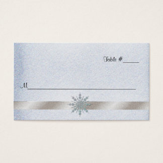 Crystal Snowflake Wedding Reception Place Card