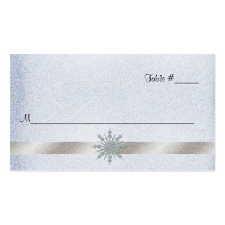 Crystal Snowflake Wedding Reception Place Card Business Cards