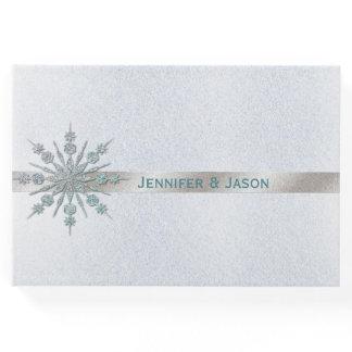 Crystal Snowflake Winter Wedding Guest Book