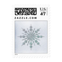 Crystal Snowflake Winter Wedding Postage Stamp