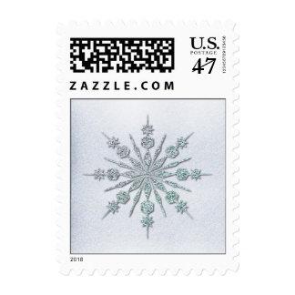 Crystal Snowflake Winter Wedding Postage Stamp