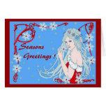 Crystal Snowflakes Greeting Cards