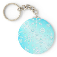 Crystal Snowflakes Keychain