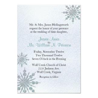Crystal Snowflakes Winter Wedding Invitation
