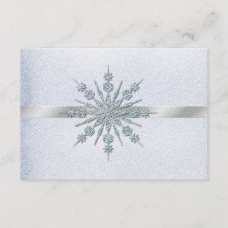 Crystal Snowflakes Winter Wedding RSVP