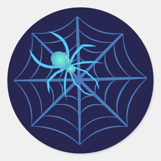 Crystal Spider Classic Round Sticker
