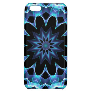 Crystal Star, Abstract Glowing Blue Mandala iPhone 5C Cover